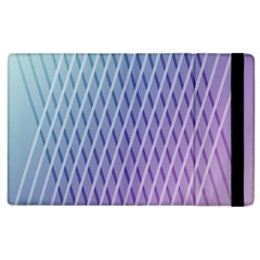 Abstract Lines Background Apple iPad 2 Flip Case