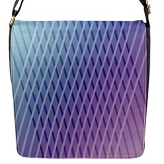 Abstract Lines Background Flap Messenger Bag (s)