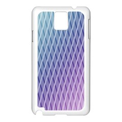 Abstract Lines Background Samsung Galaxy Note 3 N9005 Case (White)
