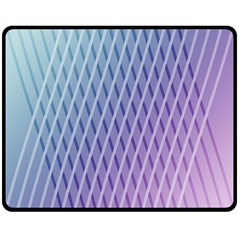 Abstract Lines Background Double Sided Fleece Blanket (Medium)