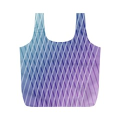 Abstract Lines Background Full Print Recycle Bags (M)