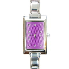 Abstract Lines Background Pattern Rectangle Italian Charm Watch