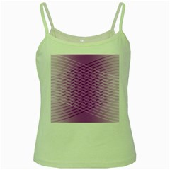 Abstract Lines Background Pattern Green Spaghetti Tank