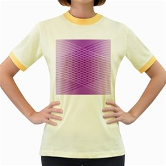 Abstract Lines Background Pattern Women s Fitted Ringer T Shirts
