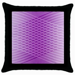 Abstract Lines Background Pattern Throw Pillow Case (Black)