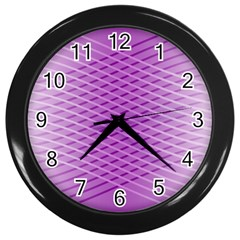 Abstract Lines Background Pattern Wall Clocks (Black)