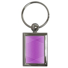 Abstract Lines Background Pattern Key Chains (Rectangle)