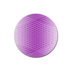 Abstract Lines Background Pattern Magnet 3  (round)