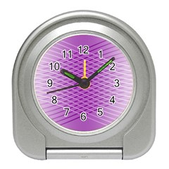 Abstract Lines Background Pattern Travel Alarm Clocks