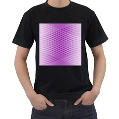 Abstract Lines Background Pattern Men s T Shirt (black) (two Sided)