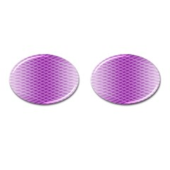 Abstract Lines Background Pattern Cufflinks (oval)