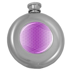 Abstract Lines Background Pattern Round Hip Flask (5 Oz)