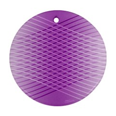 Abstract Lines Background Pattern Round Ornament (Two Sides)