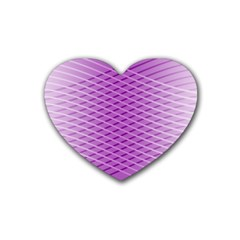 Abstract Lines Background Pattern Rubber Coaster (heart)