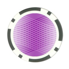 Abstract Lines Background Pattern Poker Chip Card Guard