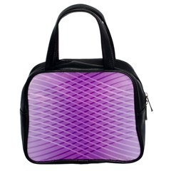 Abstract Lines Background Pattern Classic Handbags (2 Sides)
