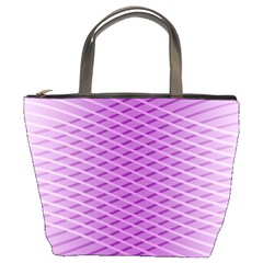 Abstract Lines Background Pattern Bucket Bags