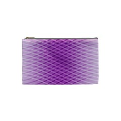 Abstract Lines Background Pattern Cosmetic Bag (small)