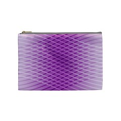Abstract Lines Background Pattern Cosmetic Bag (medium)