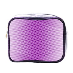 Abstract Lines Background Pattern Mini Toiletries Bags