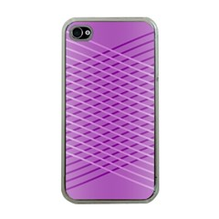 Abstract Lines Background Pattern Apple iPhone 4 Case (Clear)