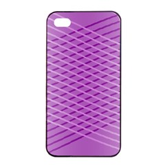 Abstract Lines Background Pattern Apple Iphone 4/4s Seamless Case (black)