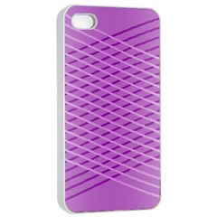 Abstract Lines Background Pattern Apple iPhone 4/4s Seamless Case (White)