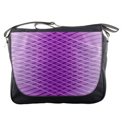 Abstract Lines Background Pattern Messenger Bags