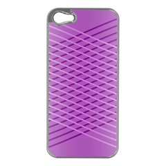 Abstract Lines Background Pattern Apple iPhone 5 Case (Silver)
