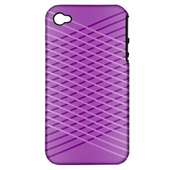 Abstract Lines Background Pattern Apple iPhone 4/4S Hardshell Case (PC+Silicone)
