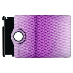Abstract Lines Background Pattern Apple iPad 2 Flip 360 Case