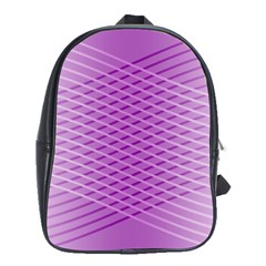 Abstract Lines Background Pattern School Bags (xl)