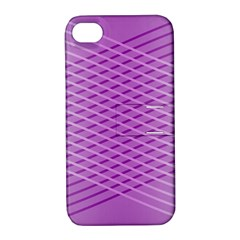 Abstract Lines Background Pattern Apple iPhone 4/4S Hardshell Case with Stand