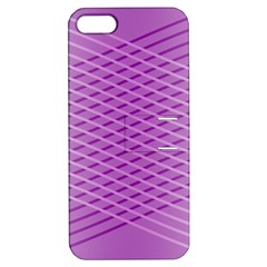 Abstract Lines Background Pattern Apple iPhone 5 Hardshell Case with Stand