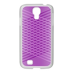 Abstract Lines Background Pattern Samsung GALAXY S4 I9500/ I9505 Case (White)