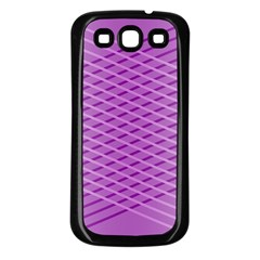 Abstract Lines Background Pattern Samsung Galaxy S3 Back Case (black)