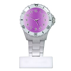 Abstract Lines Background Pattern Plastic Nurses Watch