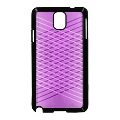 Abstract Lines Background Pattern Samsung Galaxy Note 3 Neo Hardshell Case (Black)