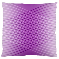 Abstract Lines Background Pattern Standard Flano Cushion Case (One Side)