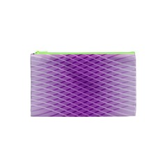Abstract Lines Background Pattern Cosmetic Bag (xs)