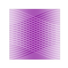 Abstract Lines Background Pattern Small Satin Scarf (Square)