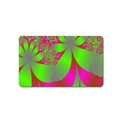 Green And Pink Fractal Magnet (name Card)