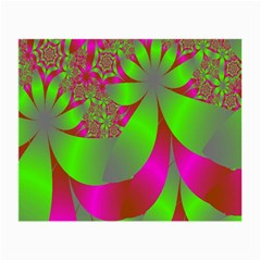 Green And Pink Fractal Small Glasses Cloth (2 Side)
