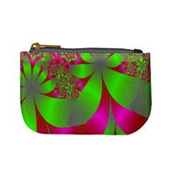 Green And Pink Fractal Mini Coin Purses