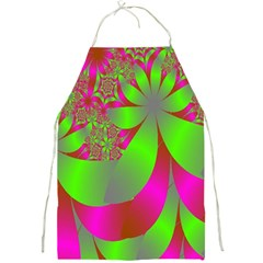 Green And Pink Fractal Full Print Aprons