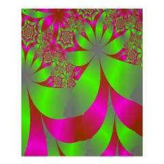 Green And Pink Fractal Shower Curtain 60  X 72  (medium)