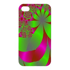 Green And Pink Fractal Apple iPhone 4/4S Hardshell Case