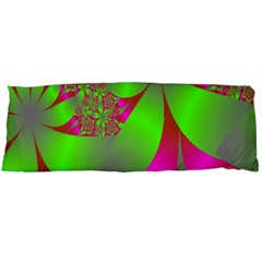 Green And Pink Fractal Body Pillow Case Dakimakura (two Sides)