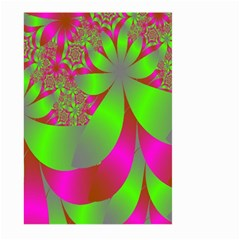 Green And Pink Fractal Large Garden Flag (Two Sides)