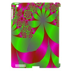 Green And Pink Fractal Apple iPad 3/4 Hardshell Case (Compatible with Smart Cover)